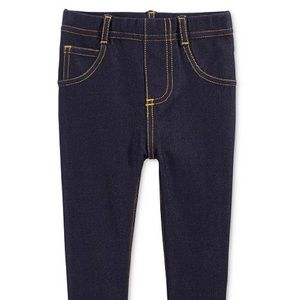 FIRST IMPRESSIONS baby dark wash jeggings (12m)